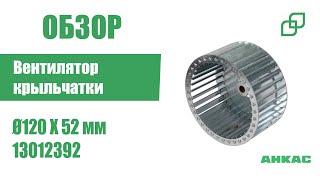 Вентилятор крыльчатки, лопастное колесо Ø120 X 52 мм, арт. 13012392