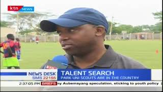 Parking Uni Scouts are searching for soccer talent.