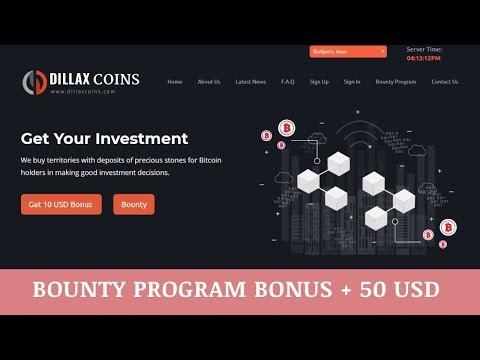 DillaxCoins.com отзывы 2019, mmgp, обзор, Bounty Program BONUS + 50 USD