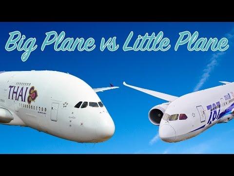 Malá letadla vs. velká letadla