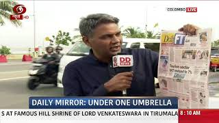 All News papers prominently carried PM Modi's Visit to Sri Lanka