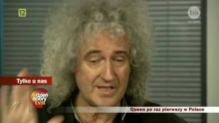Interview: Queen for the first time in Poland 04/07/2012  (IN POLISH)