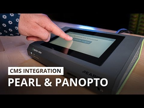 Pearl remote recorders integration with Panopto