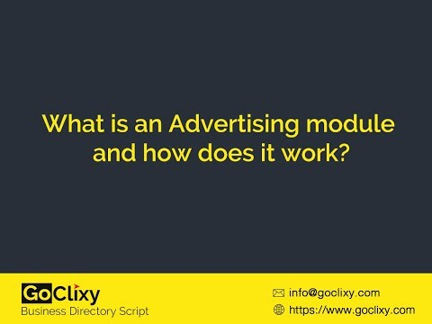 What is an Advertising module and how does it work?