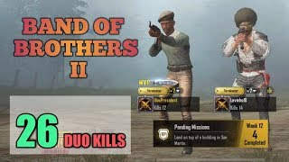 Band of Brothers II | Levhino | DUO SQUAD | 26 DUO KILLS | PUBG Mobile