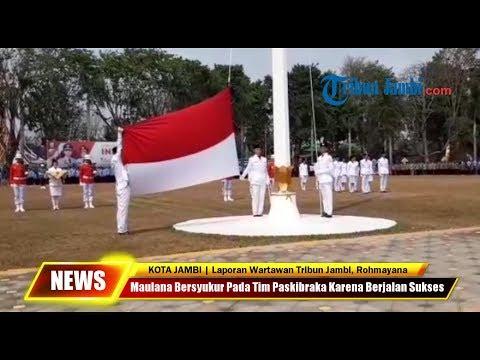 Memperingati Dirgahayu RI ke 74, Pemkot jambi Gelar Upacara Pengibaran Bendera Merah Putih