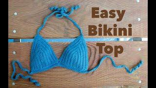 How to Crochet a Simple Bikini Top, Easy Crochet Tutorial