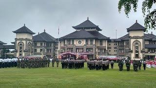 Meskipun Hujan, Upacara Bendera di Pusat Pemerintahan Badung Tetap Berlangsung