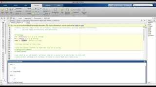 MATLAB Video 4: Basic Strings, Concatenating Strings, And Char Function