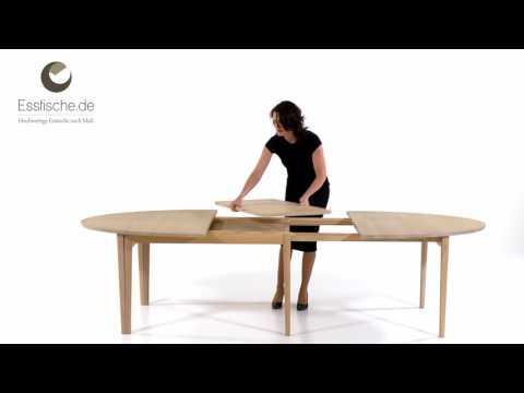 Ovaler Esstisch ausziehbar