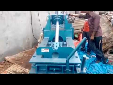 Manual Door Double Action Scrap Baling Machine