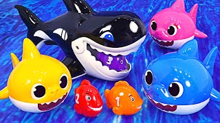 Shark appeared! Help Pororo and his friends~! Shark family dispatch! | PinkyPopTOY