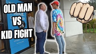Gambar cover CRAZY OLD MAN TRIES TO FIGHT KID!!