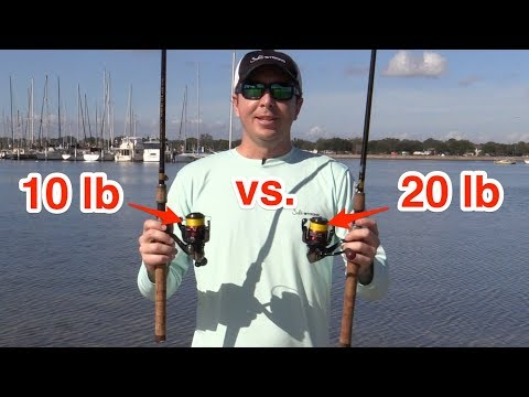 Casting Distance Experiment – 10 lb Braid vs. 20 lb Braid On Spinning Tackle [Surprising Results]