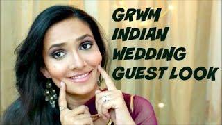 Image for video on GRWM : Indian Wedding Guest Look | Sangeet ,Mehendi & Cocktail Look by Bakeup & Makeup