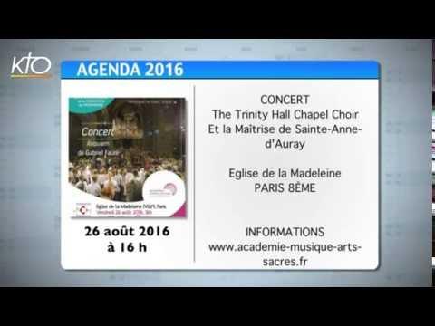 Agenda du 12 août 2016