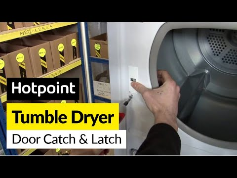 How to Replace the Tumble Dryer Door Catch and Latch on a Hotpoint Dryer