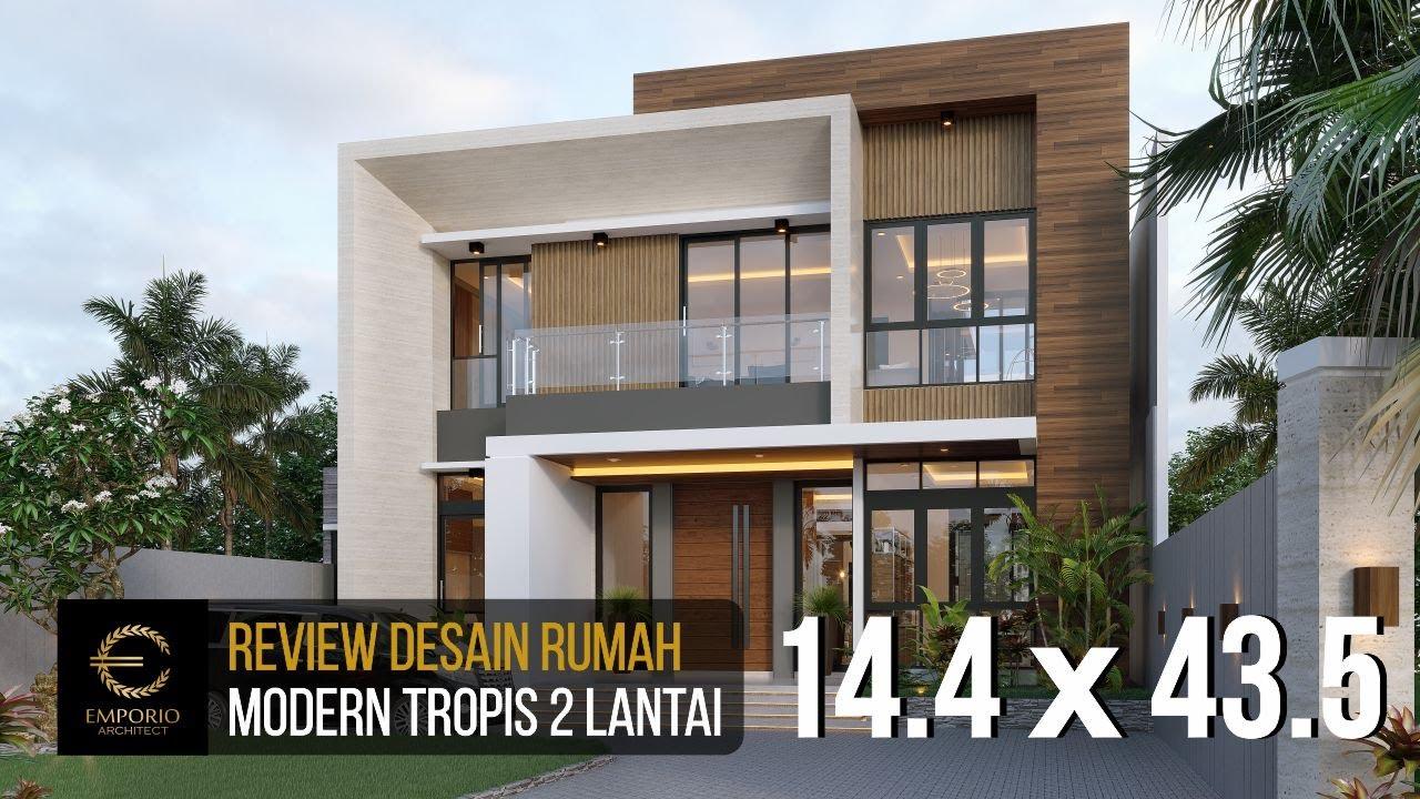 Video 3D Desain Rumah Modern 2 Lantai Bapak Herman di Tanjung Pinang, Kepulauan Riau