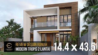 Video Desain Rumah Modern 2 Lantai Bapak Herman di  Tanjung Pinang, Kepulauan Riau