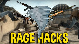 CS:GO RAGE SPINBOT HACKER (OVERWATCH FUNNY MOMENTS)