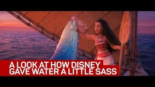 A look at how Disney gave water a little sass in 'Moana'