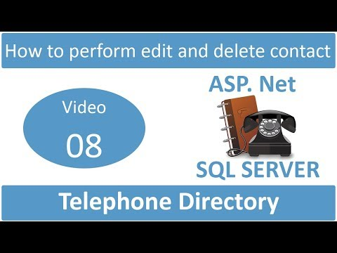 how to perform edit and delete contact in telephone directory