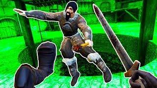 SPARTAN KICKING GLADIATORS into PITS in BLADE and SORCERY VR!