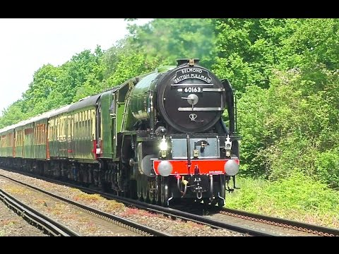 LNER A1 60163 'Tornado' works The British Pullman past Virgi…