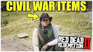 RDR2 CIVIL WAR HAT & CIVIL WAR KNIFE LOCATION (RARE ITEMS RED DEAD REDEMPTION 2)
