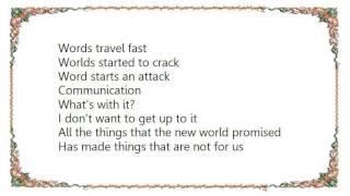 Johnny Marr - Word Starts Attack Lyrics