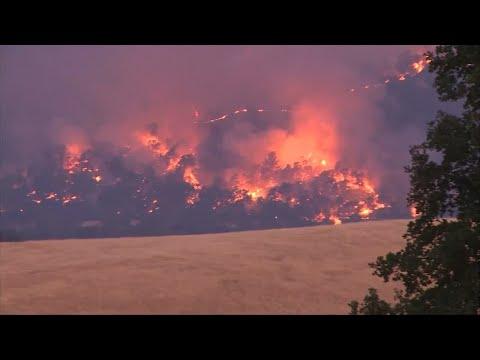Wildfires spread through Northern California