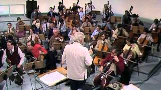 Leonard Bernstein rehearsing with BBC Symphony Orchestra in 1982