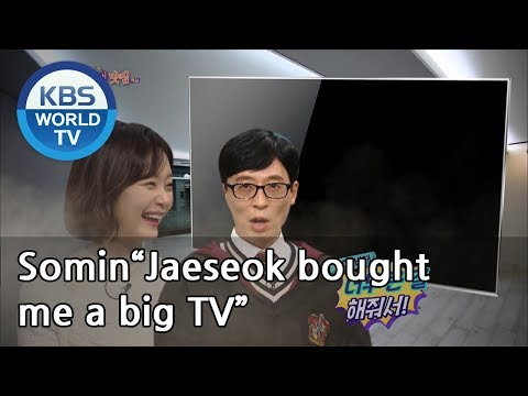 "Somin""Jaeseok Bought Me A Big TV, But It's Too Big For My House""[Happy Together/2019.03.14]"