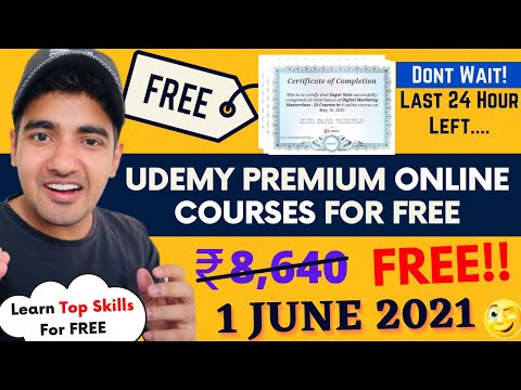Free Udemy Courses With Free Certificates | Certified Free Online ...