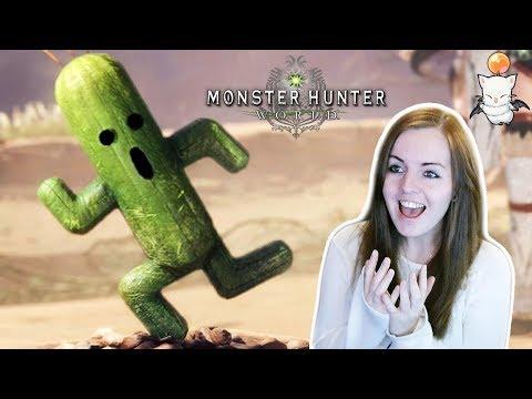 OMG A CACTUAR, KUPO!!   Monster Hunter World Final Fantasy Crossover Gameplay