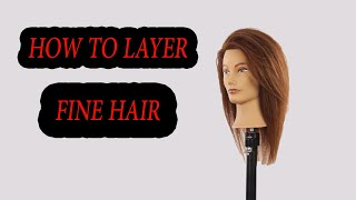 How To Cut Medium Layers For Fine Hair Step By Step,tutorial #layers#finehair#howto