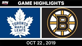 NHL Highlights | Maple Leafs vs Bruins – Oct 22, 2019