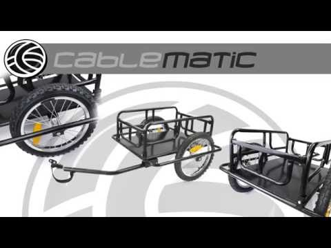 Remolque de bicicleta para carga de 60 Kg plegable distribuido por CABLEMATIC ®