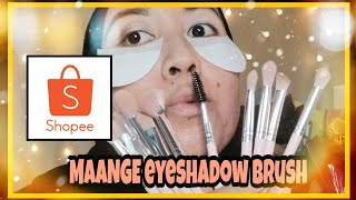 MAANGE 12 PCS EYESHADOW BRUSHES | Murah di SHOPEE | REVIEW & TUTORIAL