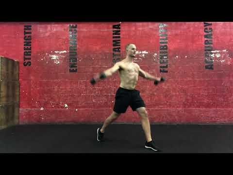 Split Squat + Lateral Raise