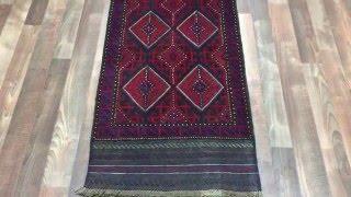 Semi-Antique Red Persian Baluch Runner Rug 2X8'2 - 1787