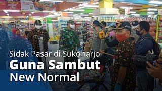 Sambut New Normal, Kapolres dan Dandim Sukoharjo Turun Langsung Sidak Pasar Tradisional dan Modern