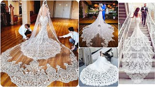 Stylish Designer Mermaid Bridal Dress With Long Tail 2019|Wedding Dress  Bridal Gown With Lace Aplic