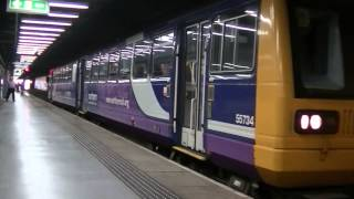 preview picture of video 'Northern Rail 142084 departing Sunderland'