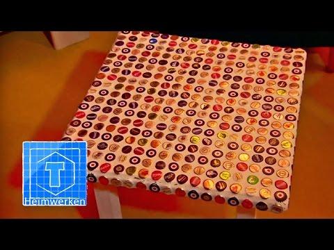 Mosaiktisch aus Kronkorken | Heimwerken | ToolTown