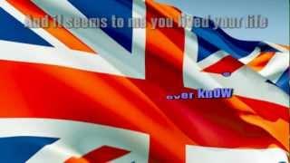 ELTON JOHN - CANDLE IN THE WIND (ENGLAND'S ROSE)  karaoke instrumental lyrics