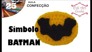 Símbolo Logotipo Batman Crochet | Edi Art Crochê