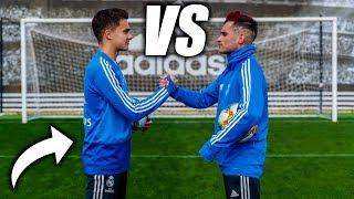 REGUILÓN VS DELANTERO09 - Retos De Fútbol Ft. Real Madrid CF
