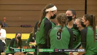 Volleyball highlights: Griswold 3, New London 0
