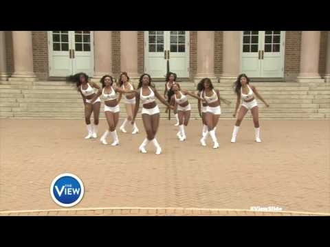 Ebony Fire at Hampton University Rock The #ViewSlide | The View